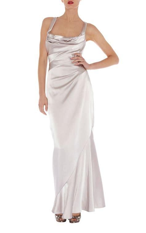 draped maxi dress lyst karen millen draped maxi dress in metallic