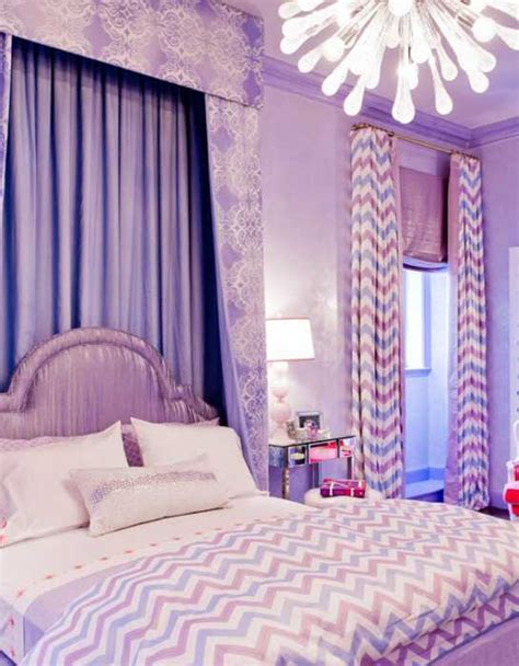 Purple Bedroom by Gorgeous Interior Decorating Ideas Beautifying Homes With