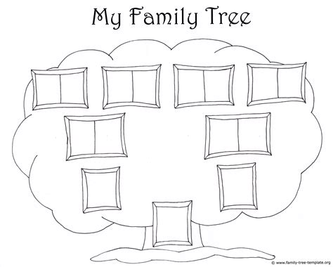 Family Tree Template For Kids Printable Genealogy Charts Family Tree Template Easy Templates