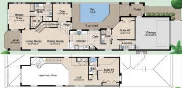 floor plans with courtyard courtyard ii cottage orlando s premier custom home builder