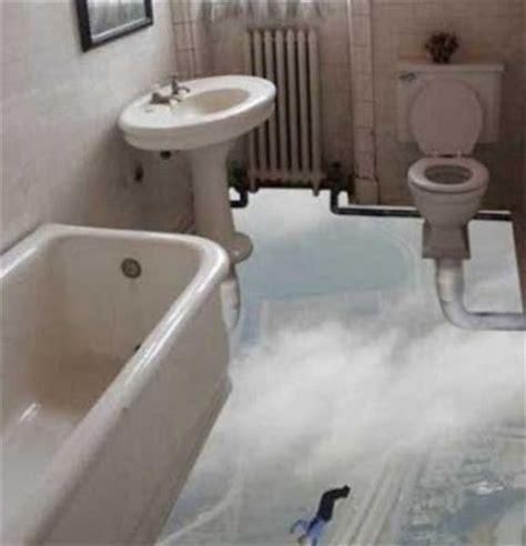see through bathroom floor floorless bathroom spectacular optical illusions and images
