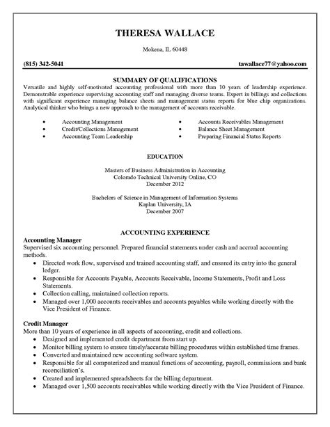 sle resume format for accounting staff junior accountant resume resume ideas
