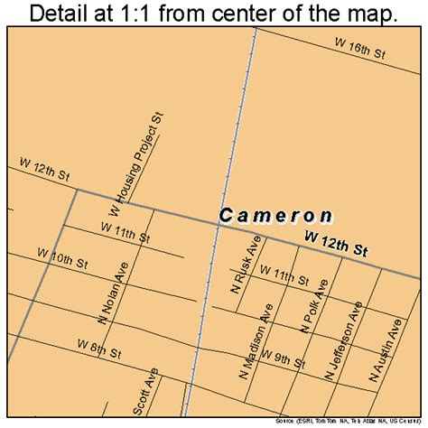 cameron texas map cameron texas map 4812040