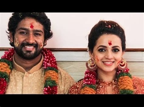 bhavana marriage full photos with kannada producer naveen