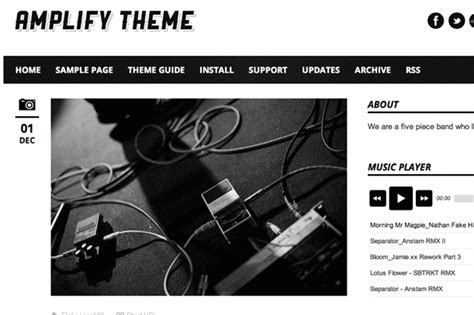 themes for tumblr with music player the 12 best free and premium band tumblr themes hypebot
