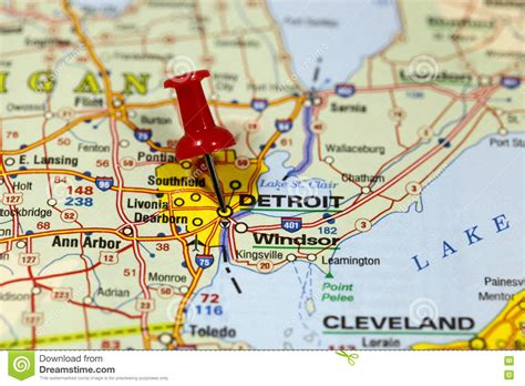 map of usa detroit detroit michigan usa stock images 1 524 photos