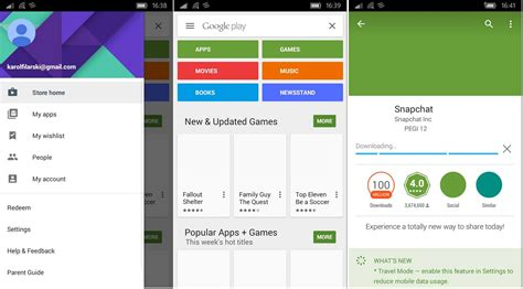 Play Store Mobile List Of Android Apps Running On Windows 10 Mobile With Results