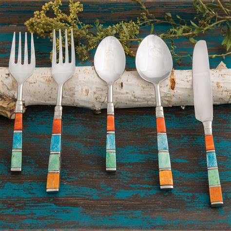 southwestern bone stainless steel flatware set  pcs