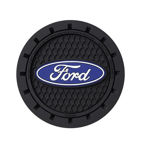 Auto Coaster Jeep Logo by Ford Logo Car Cup Holder Coasters Pair Cargogear