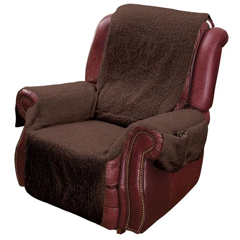 Slip Cover Chairs Recliner Chair Cover Protector With Pockets For Remotes