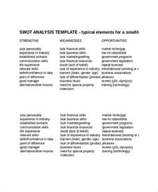 Swot Template Xls by Swot Analysis Template 12 Free Word Pdf Ppt Psd