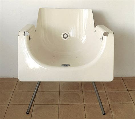 what is a bathtub made of chair made from an old bath tub the style files