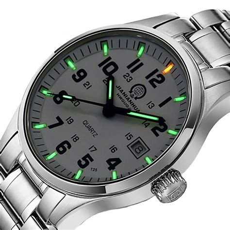 luxury mens h3 green tritium waterproof light