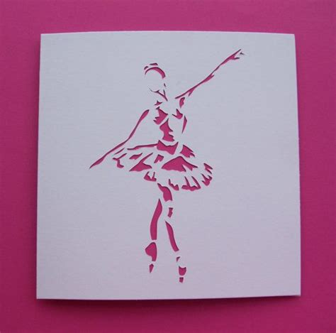 Handmade Greeting Cards Uk - handmade ballet card ballerina card paper cut