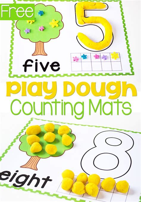 Play Doh Number Mats by Free Printable Tree Play Dough Counting Mats 1 10
