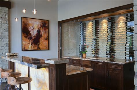 rustic wine glass rack home bar transitional with vertical