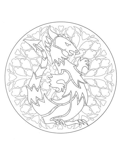 dragon mandala coloring pages free mandala coloring page representing a dragon to