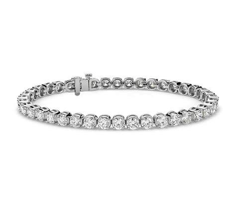diamond tennis bracelet in 18k white gold 2 blue nile diamond tennis bracelet in 18k white gold 10 ct tw