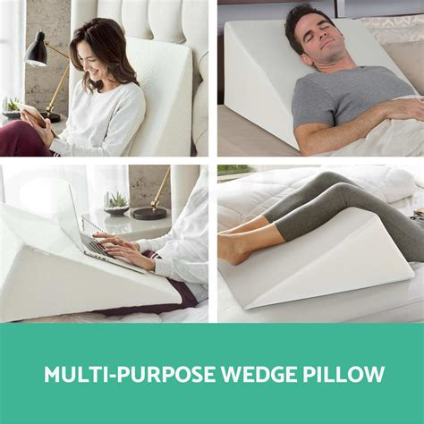 support plus bed wedge pillow memory foam cushion cover large 12 5 high at support plus 1x 2x memory foam bed wedge pillow cushion neck back