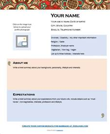 Biodata Template by 9 Sle Biodata Format For Marriage With Bonus Writing Tips
