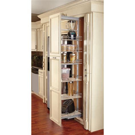 roll out shelving for kitchen cabinets rev a shelf pull out pantry with maple shelves for tall