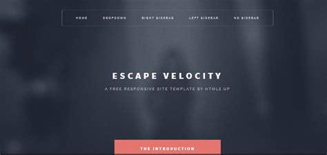 escape velocity template 10 free responsive html5 templates bestagencies