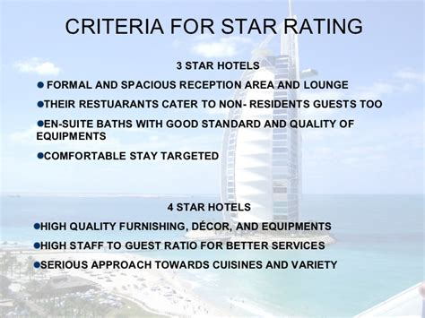 design criteria for resorts hotel industry