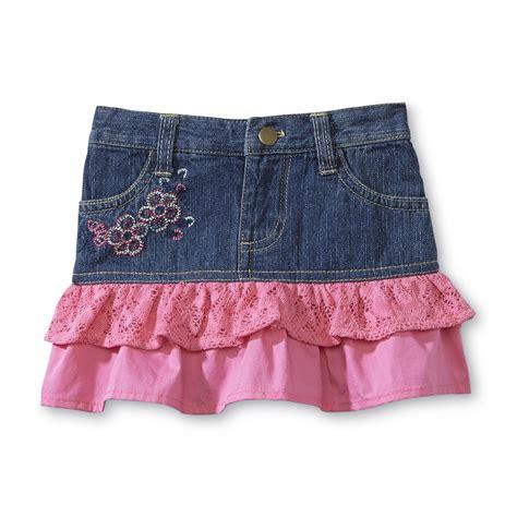 route 66 infant toddler s tiered denim skirt