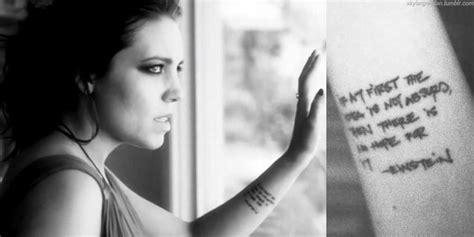 skylar grey tattoo skylar grey forearm albert einstein quote tattoos