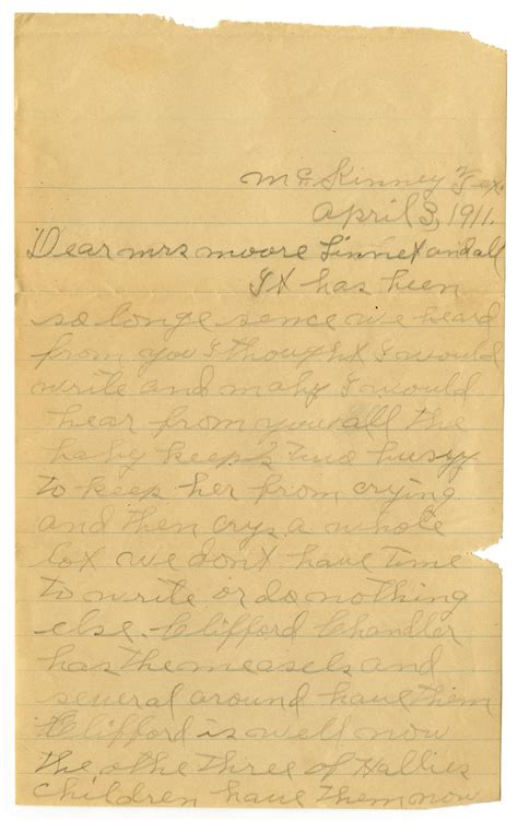 letter from opal drury to and linnet white