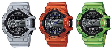 Casio G Shock G Mix Grey gba 400 g mix line features new colors g central g