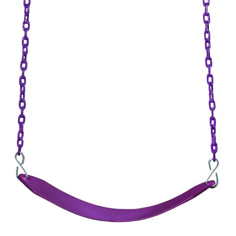 swing belt gorilla playsets plum colored deluxe swing belt and chain