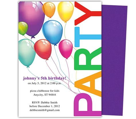 Free Printable Birthday Invitation Templates For Word 5 Birthday Invitation Templates Word Excel Pdf Templates