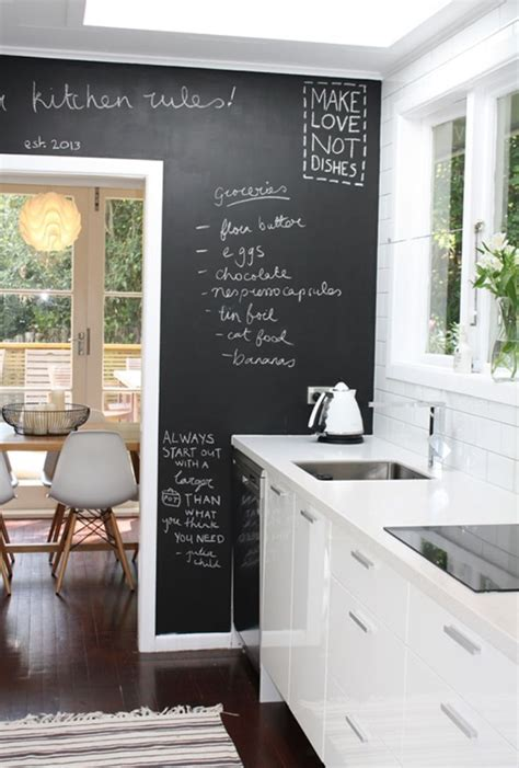 creative chalkboard ideas  kitchen decor digsdigs