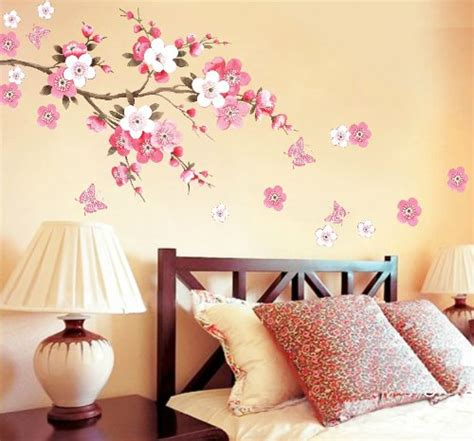 blossoms bedroom rainbow wall stickers wall decor removable decal sticker