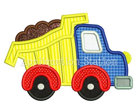 Mini Dump Truck Machine Embroidery by Dump Truck Applique Machine Embroidery Design Boy