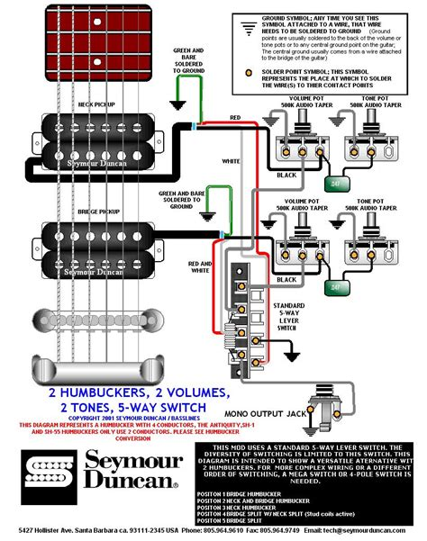 seymour duncan rodded wiring diagram image collections