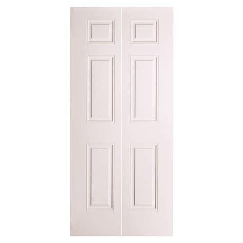 Shop Reliabilt 24 In X 79 In 6 Panel Hollow Core Molded Bifold Doors Interior Lowes