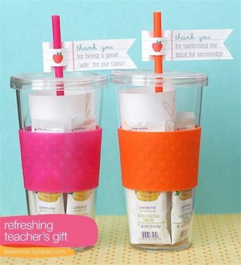 Great Gifts For Teachers - lemonade reusable glass appreciation gift