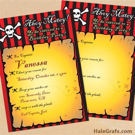 printable birthday invitations pirate free printable pirate birthday invitation