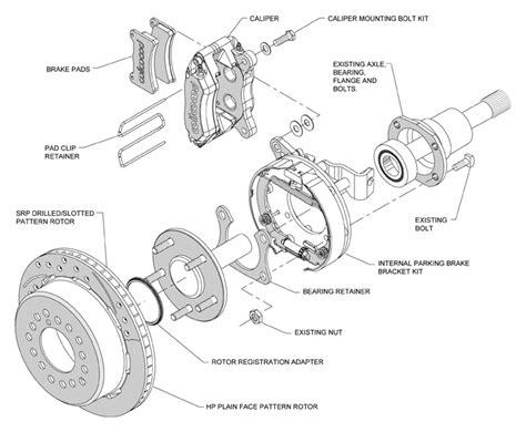 diagram of brake caliper assembly wilwood disc brake kit 65 69 ford mustang 11 quot black drl ebay