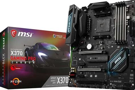 Ready Msi X370 Gaming Pro msi x370 gaming pro carbon amd ryzen x370 ddr4 vr ready hdmi usb 3 atx gaming motherboard 911