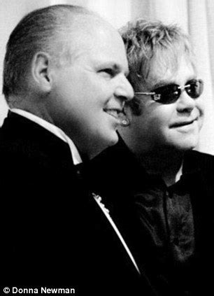 why did elton john sing at rush limbaugh's wedding