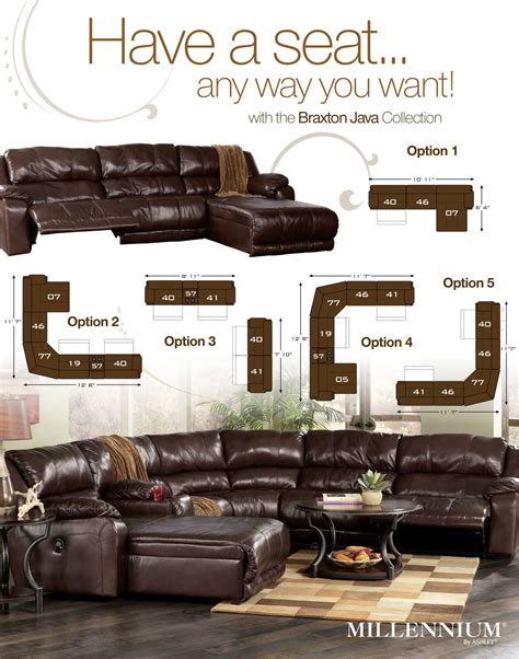 ashley braxton sectional braxton java sectional review ashley furniture at