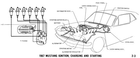 1967 mustang coil wiring diagram 1967 free engine image