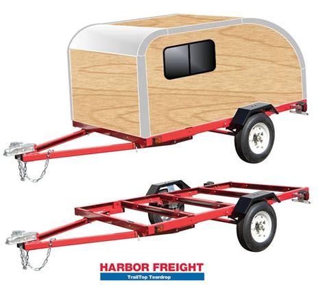 harbor freight boat trailer bunks quot trailtop quot modular trailer topper building components