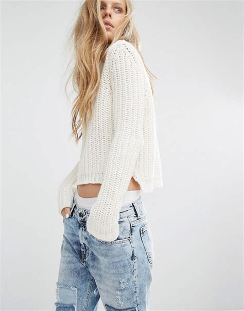 Pull Born On The Sweater pull pull chunky fisherman knit sweater