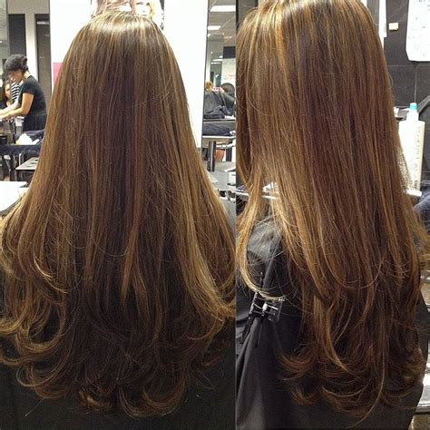 how to highlight layered hair my dark brown hair with dark blonde highlights got a trim