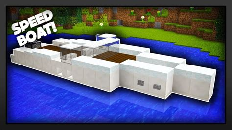 how to make a speed boat in minecraft pe minecraft how to make a speed boat youtube