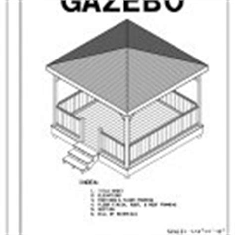Four Sided Roof 4 Sided Gazebo Hip Roof Building Plans Blueprints